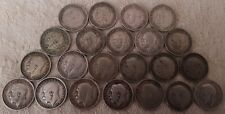More details for george v 3 pence 1911-1936 year full run 22 silver coins set lot 2