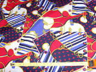 Sailor Red White Blue Ropes nautical 100 percent polyester fabric material chic