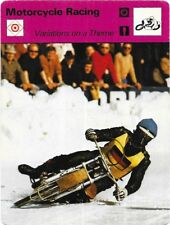 1977 Sportscaster Card Motorcycle Racing Variations on a Theme # 03-09 NRMINT.
