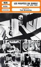 FICHE CINEMA : LES POUPEES DU DIABLE - Barrymore,O'Sullivan 1936 The Devil Doll