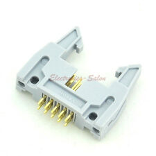 50pcs Flat Cable IDC 10 Pin Header Connector, Vertical, with Ejection Latch.