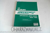 1996 SUZUKI Swift 1000/1300 Dealership OEM Service Manual Supplement
