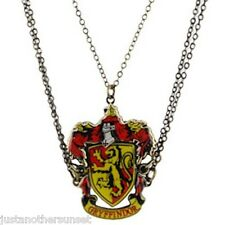 Harry Potter Gryffindor Crest Friendship Necklace 3 Piece Pendant Gift Set