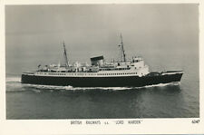 Shipping British Railways SS LORD WARDEN Aerial RP PPC