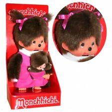 Mutter mit Kind | 20 cm | Monchhichi Puppe | Mädchen | pink | Mama mit Baby
