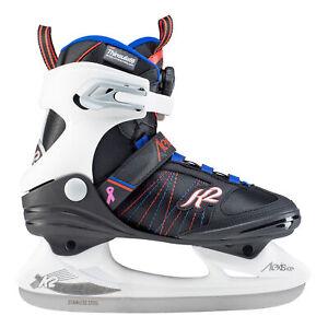 K2 Alexis Ice Boa Black-White-Blue Womens Ice Skates 2020