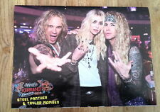 STEEL PANTHER & TAYLOR MOMSEN magazine PHOTO/Poster/clipping 11x8 inches