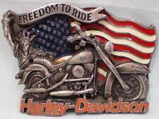 Harley-Davidson Belt Buckle by Baron ©1991 Freedom To Ride Vintage