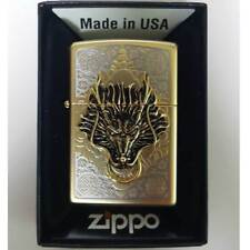 Zippo Dragon Guard Lighter Gold Genuine Case Pocket Windproof Made in USA