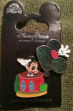 DISNEY 2014 HKDL HONG KONG MICKEY MOUSE HOUSE GLITTER HINGED PIN ON CARD