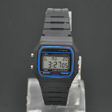 Unisex Square Shape Sports LED Digital Watch Silicone Multifunction Wristwatch