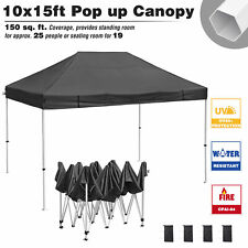 Commercial 10x15ft Pop Up Canopy Tent Instant Folding Shelter Trade Show Vendor