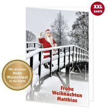 XXL schöne Weihnachtskarte Klappkarte groß A4 - TEXT ÄNDERN mit Umschlag