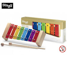 New Stagg Meta-K8 Rb Metallophone with 8 Color-Coded Keys with Mallets