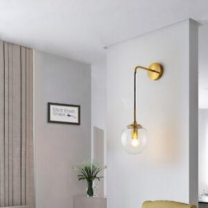 Industrial Vintage Loft Drop Wall Lamp Sconce Light + 15cm Glass Ball Shade