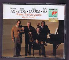 BRAHMS BOX SET 2 CDS PIANO QUARTETS OP.25.60.26 / EMANUEL AX/ I.STERN/ YO YO MA