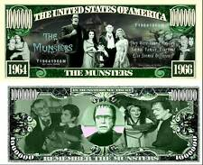 The Munsters Million Dollar Bill **Novelty Money** FREE Sleeve