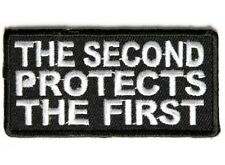 "(G14) THE SECOND PROTECTS THE FIRST 3"" x 1.5"" iron on patch (3856) Amendment"