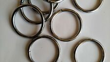 Metal O-Ring Welded for straps purses bags silver