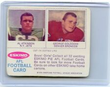 1969 ESKIMO PIE STICKER AL ATKINSON & GEORGE GOLDDEKE, JETS, BRONCOS, 011718