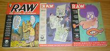 Raw vol. 2 #1-3 FN/VF/NM complete series - alan moore  art spiegelman maus set 2