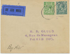 "2402 1923 early flight cover ""LONDON – PARIS"" with Handley Page Transport, rare"