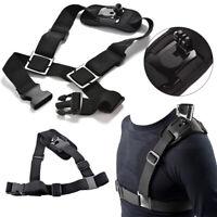 Adjustable Shoulder Chest Strap Mount Harness Belt For GoPro Hero 3+ 4 Camera US