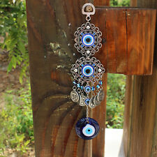Blue Turkish Evil Eye Amulet Wall Hanging Lucky Home Decor Protection Pendant