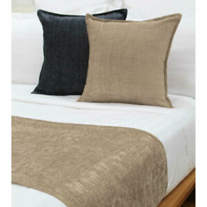 Parker Mocha Bed Runner or Square Cushion by Jason
