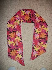 Multi colored Flower Pattern Women's Hair or neck scarf