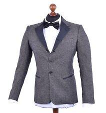 Drei-Knopf Herrenanzüge aus Wolle ohne Muster