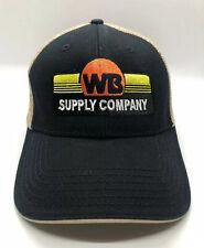 WB Supply Company Oil Field Equipment Cap Hat Adult Trucker Mesh Black Polyester