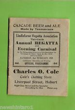 #D167.  1935  LINDISFARNE  REGATTA PROGRAM, TASMANIA