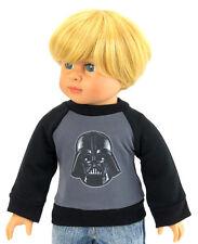 """Boy T-Shirt Darth Vader for 18"""" American Girl Boy Logan Doll Clothes"""