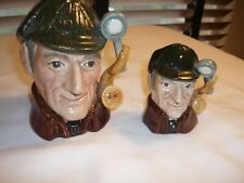 Two Royal Doulton Vintage Toby Character Jugs The Sleuth D6635, D6639