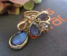 Alexis Bittar Maldivian Dangling Charm Ring Size 7 with Iolite Doublet NWT