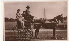 Irish Jaunting Car in Phoenix Park Dublin RP Postcard, B407
