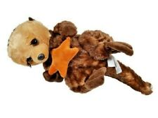 "The Petting Zoo Sea Otter With Orange Star Fish Plush Toy 15"" (38cm)"