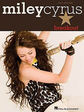"""""""MILEY CYRUS-BREAKOUT"""" PIANO/VOCAL/GUITAR MUSIC BOOK BRAND NEW ON SALE SONGBOOK!"""