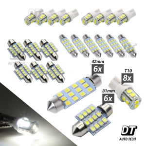 20X White LED Light Interior Package Kit for T10 & 31mm Map Dome + License Plate