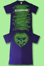 ALEXISONFIRE - CANADIAN  BAND LOGO, STENCIL CONCERT TOUR T-SHIRT *NEW* / SZ. S