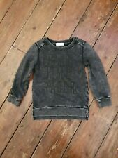 H&M Boys Black Washed Sweatshirt Age 4-6 Years **Excellent Condition