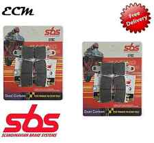 YAMAHA YZF R1 1000 Radial Caliper 07 - 08 SBS FRONT BRAKE PADS Dual Carbon 839DC