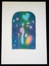 "1972 Hawaii Abstract Color Print 1/19 ""Aloha New Year"" by Toshiaki Yamada (Ahb)"