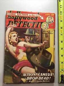 Hollywood Detective Pulp Magazine April 1950 Dan Turner Queenie Starr Comic