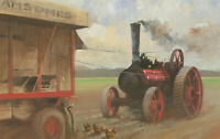 John Scarland - 1989 Gouache, Steam Engine Tractor