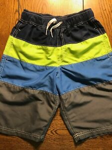 Hanna Andersson Swim Trunks Shorts Boys Color Block Size 140 10-12