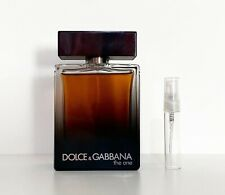 DOLCE AND GABBANA D&G THE ONE FOR MEN EDP 5ML TRAVEL SPRAY PERFUME SAMPLE