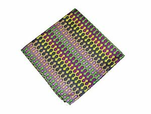 Lord R Colton Masterworks Pocket Square - Dragon Skin Green Pink Gold - $75 New
