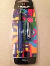 SHEAFFER POP BLUE CHROME TRIM MEDIUM FOUNTAIN PEN-SEALED BLISTER PACK